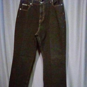 """Calvin Klein bootcut black jeans size 14/ L 32"""""""
